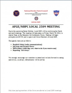 March-April Meeting Flyer